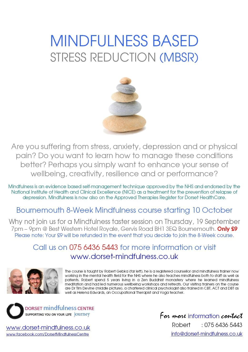 Mindfulness based stress reduction mbsr training