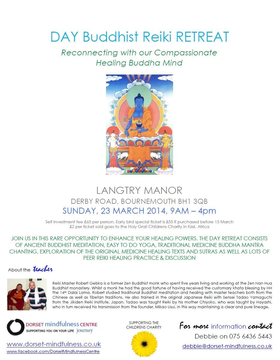 Day Buddhist Reiki Retreat - Dorset-Mindfulness