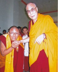 Ahbey with Dalai lama